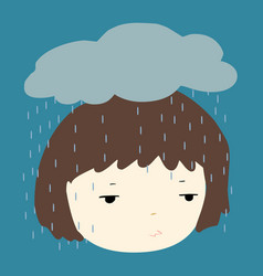 Why does it always rain on me vector