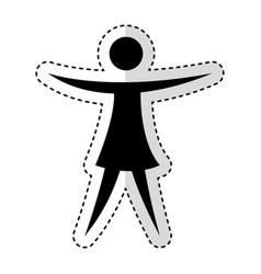 woman figure human silhouettte vector image