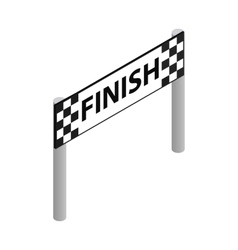 Finish line isometric 3d icon vector image