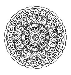 monochrome background Hand drawn round vector image