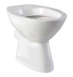 toilet seat vector image vector image