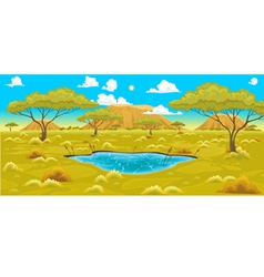 African landscape vector image vector image