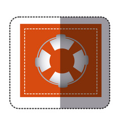 color sticker frame with flotation hoop vector image vector image