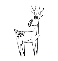 cute deer icon image vector image vector image