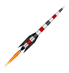 Rocket vector image