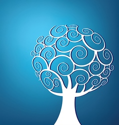 Abstract swirl tree background vector