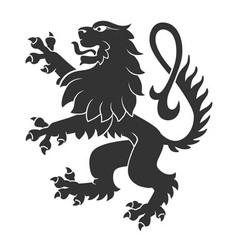 Black Standing Lion vector image vector image