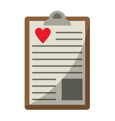 clipboard heart report vector image