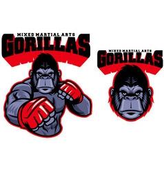 MMA fighter gorilla vector image