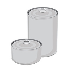 Canned food collection vector image