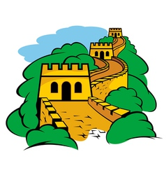 Chinese Great Wall vector image