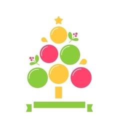 Christmas Tree Inforgaphics Chart Template vector image vector image