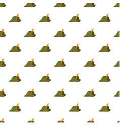 oktoberfest tirol hat pattern vector image
