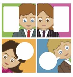 people notecards vector image