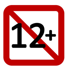 12 age restriction sign vector image