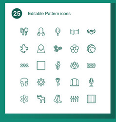 25 pattern icons vector