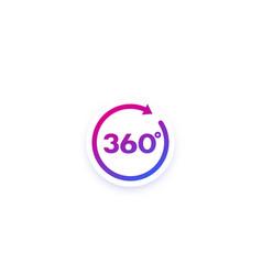 360 icon with arrow design vector