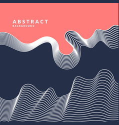 Abstract background with dynamic linear waves vector