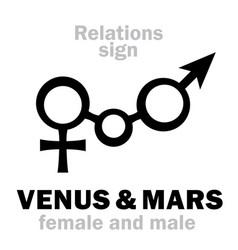 Astrology venus amp mars vector