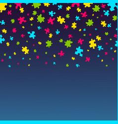 Autism awareness poster vector
