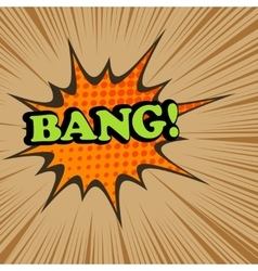 Bang comic text vector