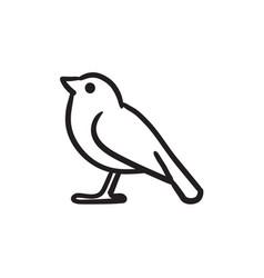bird sketch icon vector image