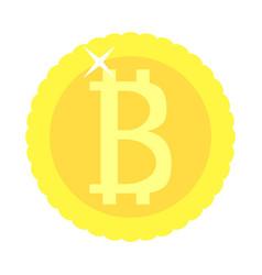 bitcoin coin golden isolated vector image