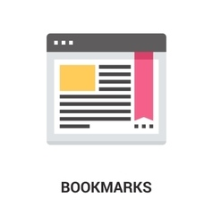 Bookmarks icon concept vector