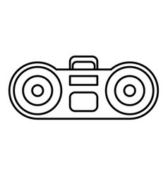 Boombox stereo system icon vector