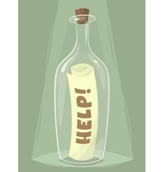 Bottle help vector