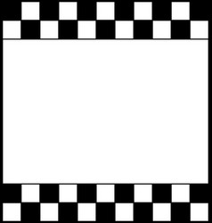checkered chess board with white space for text vector image