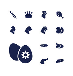 Chicken icons vector
