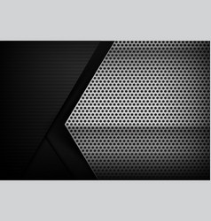 Chrome black and grey background texture vector