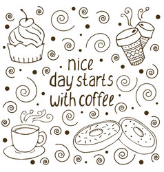 coffe quote vector image