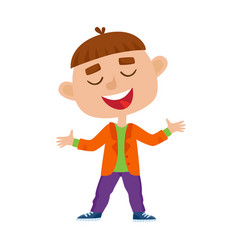 Color of a boy standing and vector