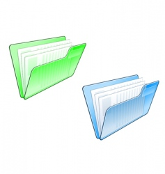computer folder icon vector image