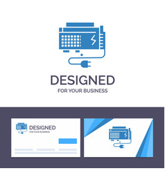 creative business card and logo template apc vector image
