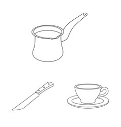 design of kitchen and cook icon collection vector image