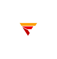 f initial triangle shape logo vector image