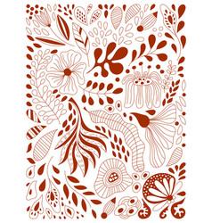 Floral composition vector