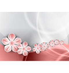 flowers on the pink wave vector image