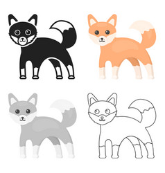 Fox icon cartoon singe animal icon from the big vector