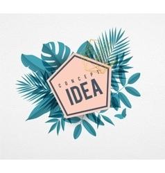 Frame floral idea blue vector image
