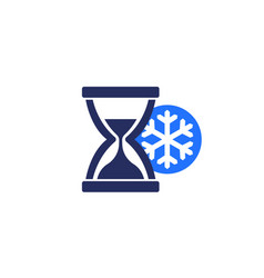 Freezing time icon sign vector