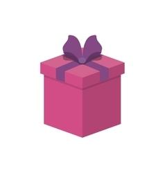 gift box present ribbon celebration decoration vector image