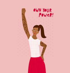 girl woman own your power character vector image