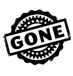 Gone rubber stamp vector