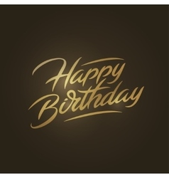 Happy birthday brush script style hand lettering vector