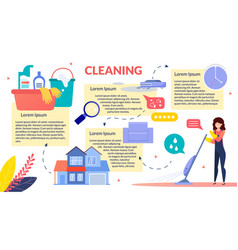 House cleaning flat infographics poster vector