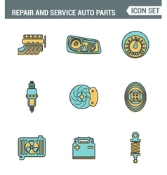 icons line set premium quality repair and vector image